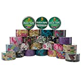Duck 25 Rolls Bulk Lot Colored Assorted Random Duct Tape Pack Print Patterns 250yds Crafting Hobby For Kids