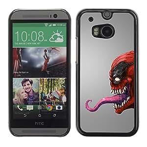 "For HTC One ( M8 ) , S-type Red veneno del monstruo"" - Arte & diseño plástico duro Fundas Cover Cubre Hard Case Cover"