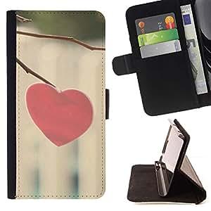 Momo Phone Case / Flip Funda de Cuero Case Cover - Corazón del amor Minimalista - Sony Xperia M4 Aqua