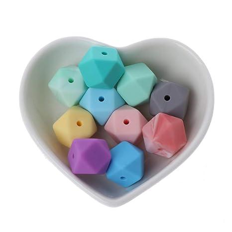 c13dcc2959d3 A0127 10 piezas de perlas de silicona para bebés