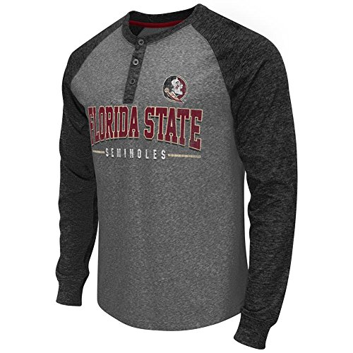 Colosseum FSU Florida State University Long Sleeve Tee Jester Two-Tone Henley (Jester Long Sleeve)