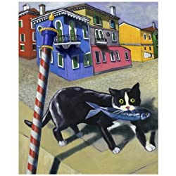 Cat of Burano (Chat de Burano) Giclee Poster Print by Isy Ochoa, 12x16