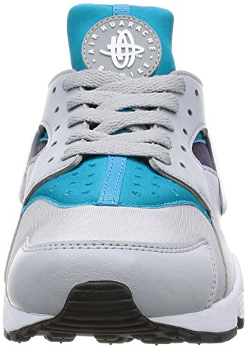 Nike Air Run Huarache 318429-024, Scarpe Sportive Uomo Bianco (Wolf Grey/White/Aqua/Purple/Black/White)