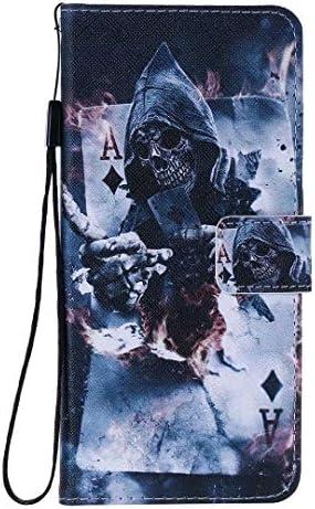 Miagon Flip PU Leder Schutzhülle für Samsung Galaxy S9,Bunt Muster Hülle Brieftasche Case Cover Ständer mit Kartenfächer Trageschlaufe,Zauberer