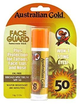 Australian Gold Spf#50 Face Guard Stick 0.6oz (3 Pack)