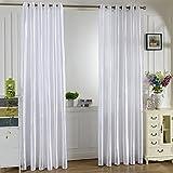 Wishwin Modern Half Blackout Voile Curtain Panel Pour Color Rod Pocket(95*200cm)