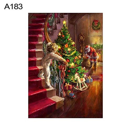 lightclub 30x40cm Christmas Tree Full Round Diamond Painting Embroidery Cross Stitch Decor - A183