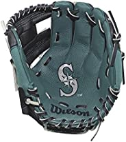 """Wilson A200 Youth MLB 10"""" Tee Ball Glove in Team Logo Designs, All Positions and Perfect for Begi"""