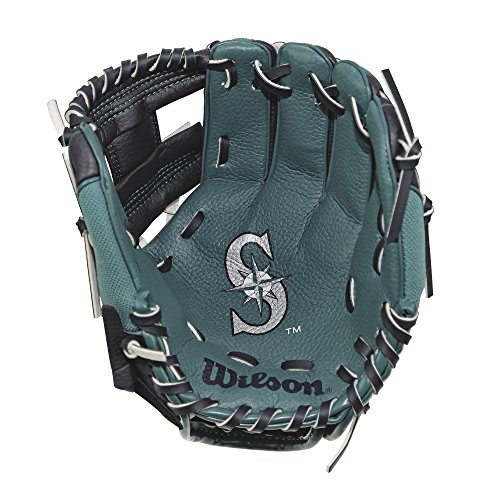 "Wilson WTA02RB18COL 10"" Seattle Mariners Glove Right Hand Throw, Navy/Mariner Green"