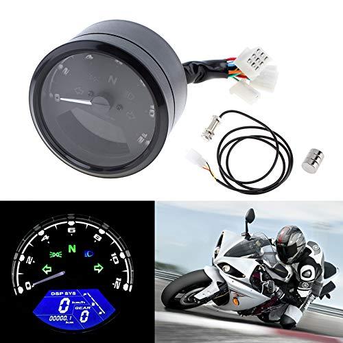 MASO Motorcycle Speedometer Odometer Tachometer Oil Meter Digital Meter LED Light Indicator Display Multifunction With Night Vision