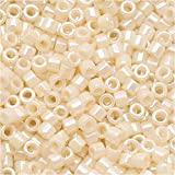 Miyuki Delica Seed Beads 11/0 Opaque Cream AB DB157 6.8 Grams