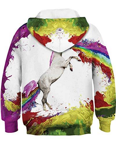 Amoma Unicorn Amoma Hoodie Rainbow Hoodie Fille Fille aFWBfWqE1