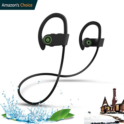 Wireless Headphones,ROTUYES Bluetooth Headphones Headsets IPX7 Waterproof HD Stereo Sweatproof Earphone for Gym Running Workout 8 Hours Battery Noise Cancelling Headsets for IPhone X 8 8P X (Audio 85 Stereo Headset)