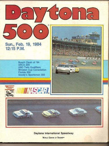 1984 Daytona 500 program Cale Yarborough Nascar ()