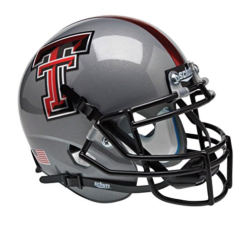 (Schutt NCAA Texas Tech Red Raiders Mini Authentic XP Football Helmet)