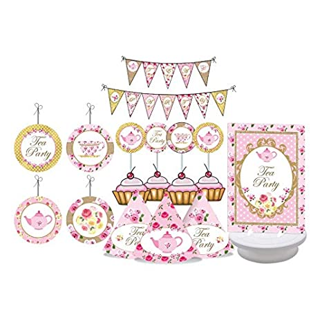 tea party tea party birthday decorations for girls pink gold party baby