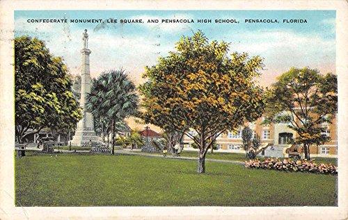 Pensacola Florida High School Confederate Monument Antique Postcard - Pensacola Stores In