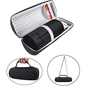Hard Carry Case for Ultimate Ears MEGABOOM 3 UE MEGABOOM3 Portable Bluetooth Wireless Speaker with Shoulder Strap Accessories Travel Bag (Black)