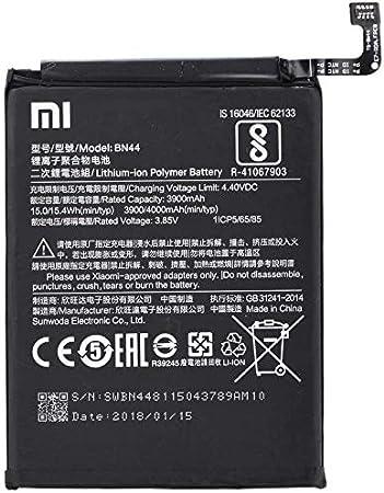 Image of Batería Original Xiaomi BN44 para Xiaomi RedMi Note 5/Xiaomi RedMi Note 5 Plus - 3900 mAh con Carga Rapida 2.0 - Sin Caja