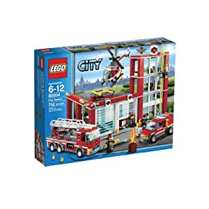 LEGO City Fire Station 60004 (Discontinued by manufacturer)