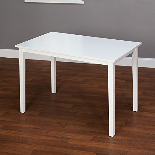 Target Marketing Systems The Shaker Collection Contemporary Style Wood Kitchen Dining Table, White