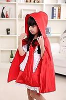 Disfraz de Caperucita Roja para Halloween, para niñas, con capucha y capa