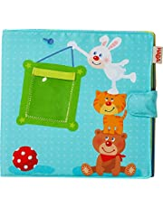 """HABA My First Photo Album - Soft Fabric Baby Book Fits Eight 4"""" x 6"""" Photos for Ages 12 Months +"""