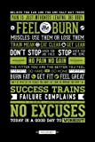 Bundle - 2 Items - Gym Motivational Quotes Poster - 91.5 x 61cms (36 x 24 Inches) and Small Block Of White Tack