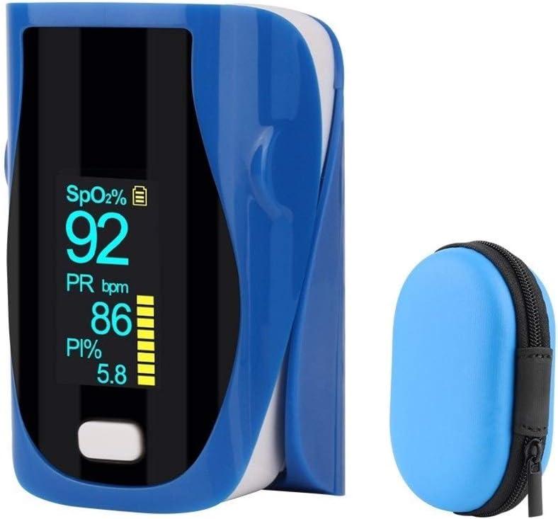 No Logo Oxímetro portátil Portable Dedo oxímetro de Pulso pulsioxímetro SPO2 PR Equipo Médico Dedo oxímetro de Pulso del corazón Digital para Deportistas y entusiastas del Deporte.