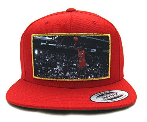 Heisman Legends Michael Jordan Dunk Snapback Cap Hat Red  Amazon.ca ... a5aefc48433