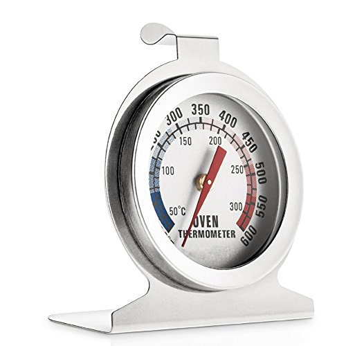 (Stainless Steel Dial Oven Thermometer Grill Temperature Gauge For Home Kitchen Food Meat - Hang or Stand in Oven)