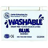 Center Enterprise CE504 Washable Stamp Pads, Blue