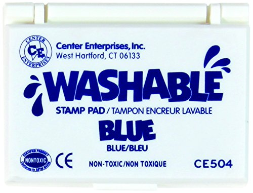 Stamp Pad Washable Blue by Center Enterprises by Center Enterprise