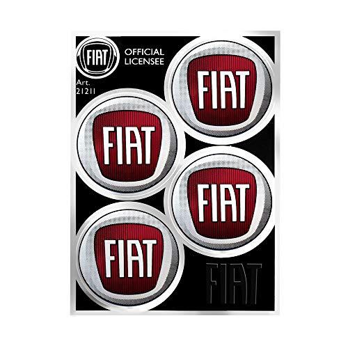 Fiat 21211 officiële wieldoppenstickers, 4 logo's, 48 mm