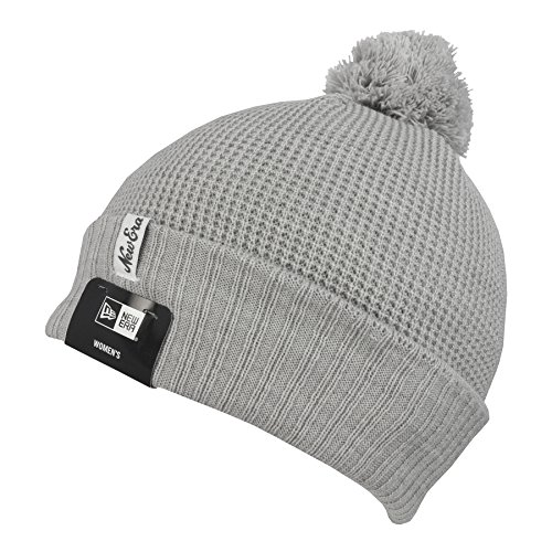 New Era Waffle Fleece Knit Cuff Womens Beanie One Size Grey