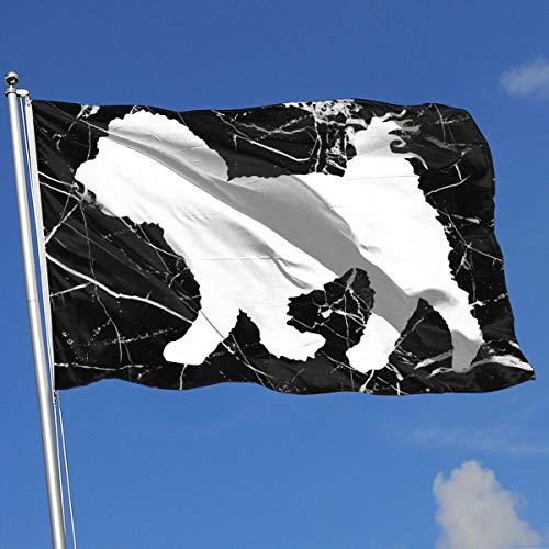 - Maltese Dog Silhouette Banner Flag Printed Indoor Outdoor Flag Spring Summer Yard Outdoor Flag 3 X5 House Banner Flag