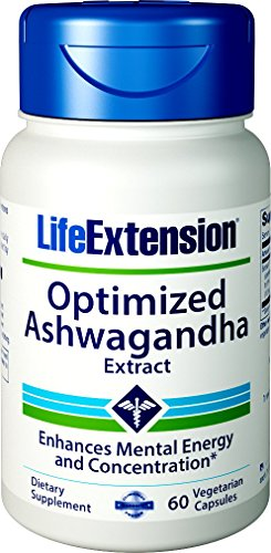 Life Extenson Optimized Ashwagandha Extract, 60 Vegetarian Capsules Ashwagandha Extract