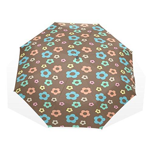 Ye Store Color Plum Blossom Folding umbrella Glass Fiber Umbrella Skeleton Nano Umbrella Cloth