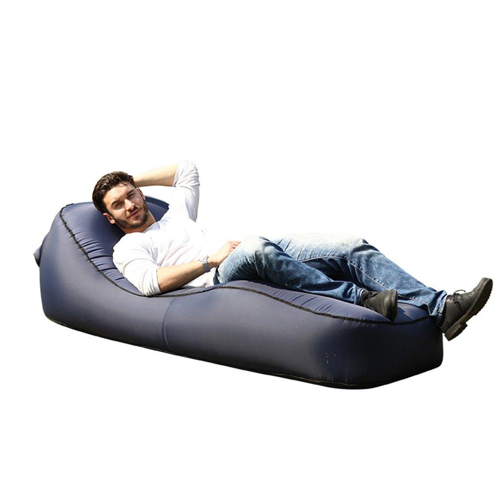 CGN ソファー、怠惰な空気インフレータブル屋外ポータブル折り畳み式マットレスソファベッドエアベッド B07DZD3PB9 青 青