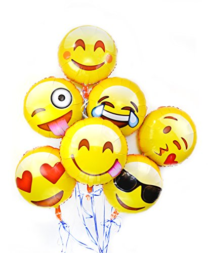 (Emoji Fun Face Variety Foil Balloons (7-Pack))