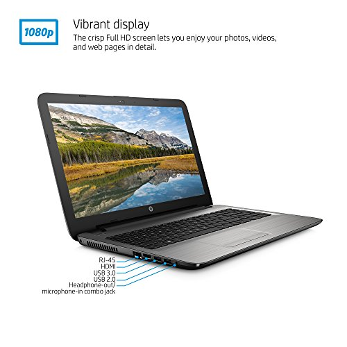 HP Notebook 15-ay011nr 15.6-Inch Laptop, Silver