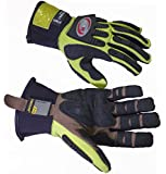 Kevlar Reinforced High Visibility Heavy Duty Impact Gloves (Medium)