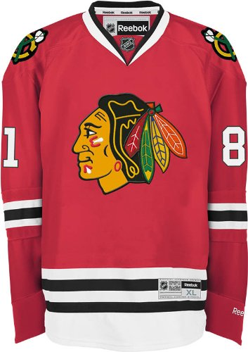 9e05000e211 NHL Chicago Blackhawks Marian Hossa Men s Center Ice Team Color Premier  Jersey with Name and Number