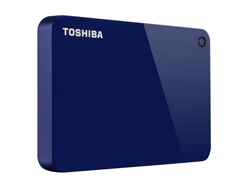 Toshiba Canvio Advance 2TB Portable External Hard Drive USB 3.0, Blue (HDTC920XL3AA) by Toshiba