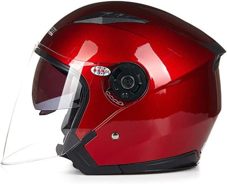 Casque de Moto Crash Jet Open Face Jaune Folconauto Casque de Scooter Moto L