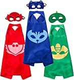 Funhall Costumes and Dress up for Kids - Capes and Masks for Catboy Owlette Gekko