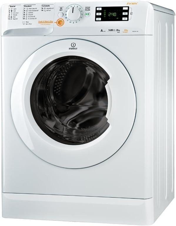 Indesit XWDE 861480X W lavadora - Lavadora-secadora (Front-load ...