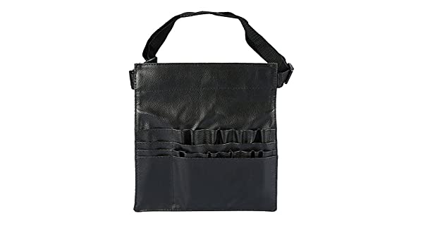 614de4eeff3 Makeup Brush Bag, Professional Black PU Leather Cosmetic Makeup Brushes  Holder Organizer Waist Bag Case Pouch  Amazon.com.au  Fashion