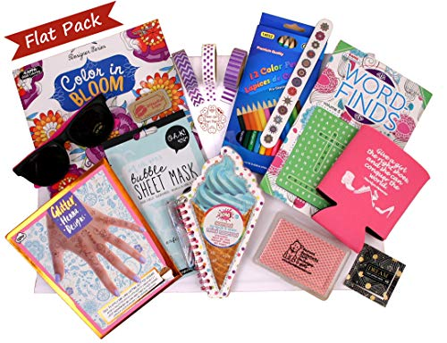 Beyond Bookmarks Teen Girl's Flat Pack - Pamper Her at Summer Camp, Birthday, or Anytime with a Pack Full of Fun Activities and Gifts to Make Her Feel Special