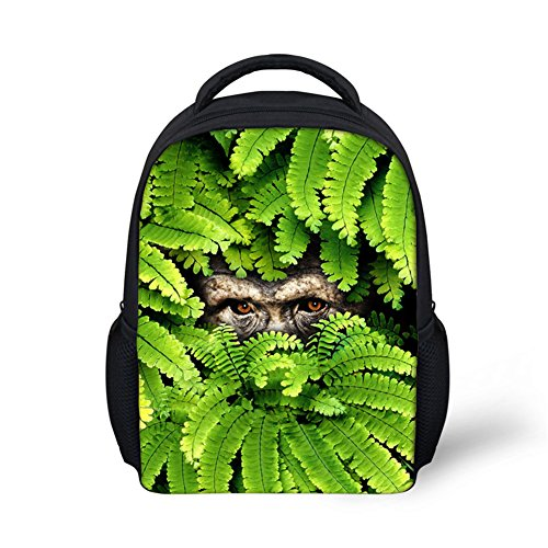 School Bags For Boys Girls Kids Jungle Animals Small Backpack 12 Inch-C0027F (Le Toy Van Jungle)